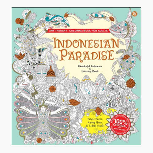 Indonesian Paradise - Coloring Book for Adults