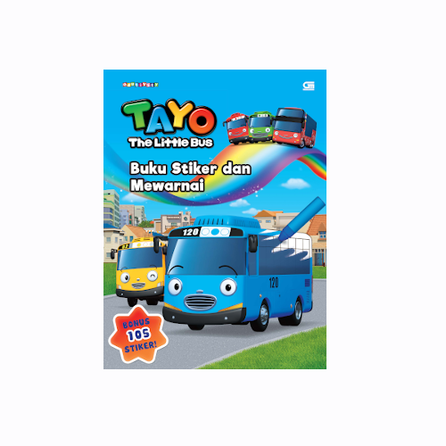 Tayo the Little Bus: Buku Stiker dan Mewarnai