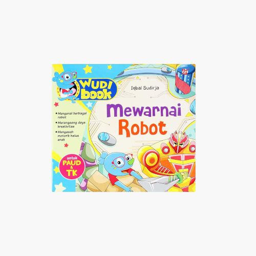 Wudi Book Mewarnai Robot