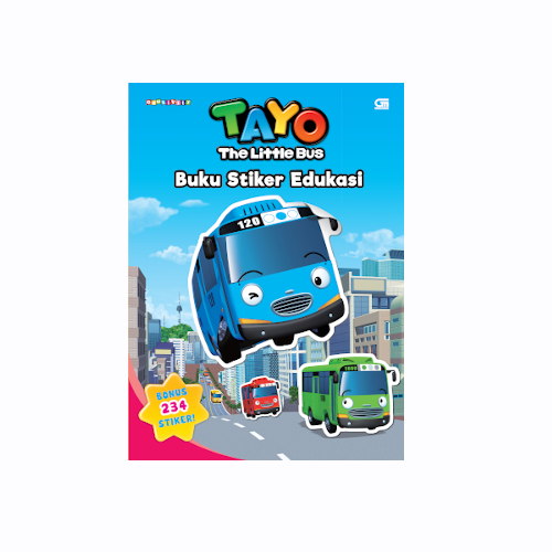 Tayo the Little Bus Buku Stiker Edukasi