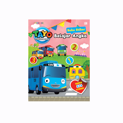 Tayo the Little Bus: Buku Stiker: Belajar Angka