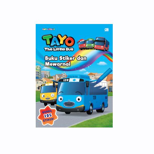 Tayo the Little Bus: Buku Stiker dan Mewarnai