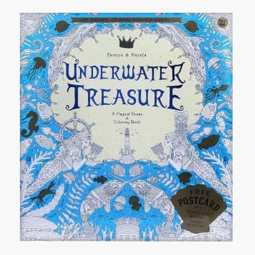 Underwater Treasure - Coloring book for adults